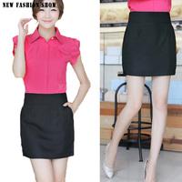 2014 NEW Fashion Plus Size Female Formal Office Clothing Bodycon Slim Mini Women's Skirts Black Elegant Womens Pencil Skirt 2136