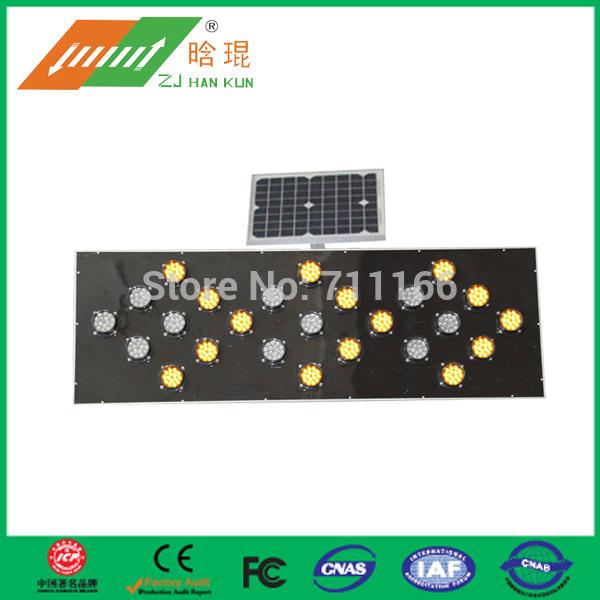 Construction safety warning solar powered traffic sign light(China (Mainland))