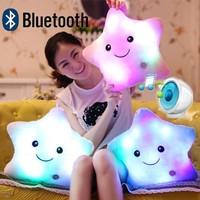 NEW Bluetooth Speaker 7 Colorful light Plush Hold pillow Light star plush toys home theater,MP3 Speakers