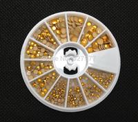 3 Sizes Flat Back Nail Art Rivet Studs Copper Color Wheel 4mm 3mm 2mm