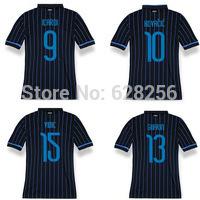 3A top thai quality kits14 15 Italian Inter soccer jerseys VIDIC GUARIN KOVACIC home football shirts Milan soccer uniforms+logo