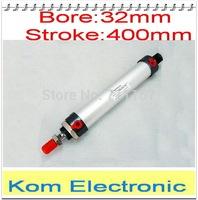 "MAL Series 32MM Bore 400MM Stroke Aluminium Alloy Pneumatic Mini Air Cylinder , 1/8"" Port Double Acting 32-400 32x400 mm"