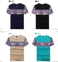 2014 summer new short-sleeved T-shirt men short-sleeve t-shirt Men's Slim Men's top brand t-shirt