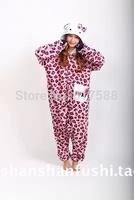 Hot Animal Vestido Onesies Pyjamas Cute Pink Leopard Kitty Cat Costumes Sleepwear Sleepsuit For Women Girls S-XL