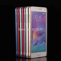 For SAMSUNG Galaxy note4 phone bumper n9100 xuenaier metal aluminium ultra-thin protective bumper with Retail Packaging