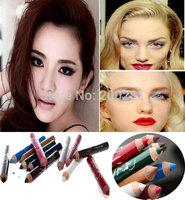 12Pcs/lot  Fashion 12 Colors Eye Makeup Eyeliner Pencil Long-lasting Eyebrow Beauty Pen Eye Liner Lip sticks Cosmetics Make Up