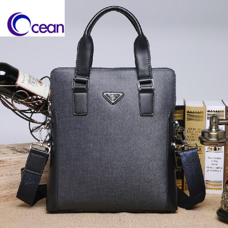 Ocean/X-3/2014 Bag BARCA FASHION BUSINESS LEISURE PVC LEATHER MAN BAG a4 PAPER BAG BRIEFCASE(China (Mainland))