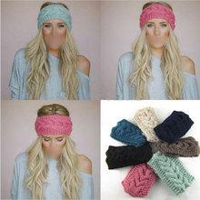 Hot Flower Crochet Knit Knitted Headwrap Headband Warmer Head Hair Band Winter(China (Mainland))