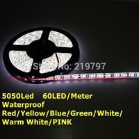 5050 300led Strip Waterproof 60LED/M DC12V 72W/5M flexible strip for garden outside lighting+ 2sets +China post