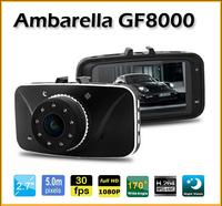 "Original!Car DVR GF8000 Ambarella A5 Full HD 1080P 2.7""LCD 170 Degree with G-sensor H.264 Vehicle Camera Video Recorder Dash Cam"