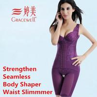 Strengthen Edition Women's Seamless Postpartum One-Piece Fat Burning Body Shaper Slimming Waist Trainer Bodysuit
