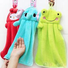 Berçário toalha de mão macia tecido de pelúcia Animal Cartoon enforcamento limpar toalha de banho 2KQT(China (Mainland))