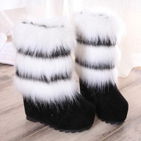 2014 new winter fur boots within the higher female short tube waterproof snow boots cotton boots warm shoes mixed colors