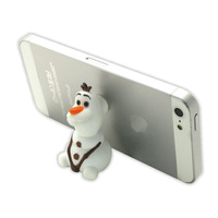 Convenient Cell Phone Holder/Stander PortableTablet PVC Fixed Cartoon Frozen Olaf Phone Stander Fashion Christmas Gift for Kids