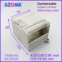 1 piece plastic pcb enclosures plastic junction box abs diy box 110x75x65 mm 4,33x2,95x2,56 inch