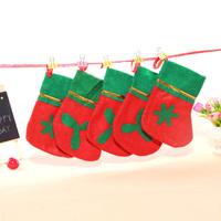 5pcs/lot  Christmas Tree Decoration Christmas Stocking Socks Christmas Hanging Ornaments christmas Party gift for kids E011