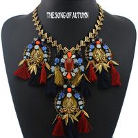 2014 European Fashion Collar Necklaces & Pendants Luxury Women Jewelry Antique Statement necklace