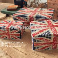 Free Shipping!Jumbo Size Metal Food Container British Flag design Iron Storage case 3pcs/set Cookie&cake storage box Gift Box