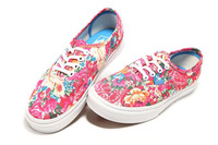 As Splendid As Spring Flowers Women Canvas Oxfords Shoes Sports Shoes Bohemian Style High Quality