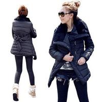 Hot selling 2014 Cotton Flax cotton jacket lapel waist big yards cotton jacket  110713