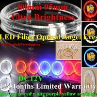 Upgraded 80mm 95mm Ultra Brightness Led Angel Eyes Ring for Car Rings Light Lamp Daytime Running Osram Led Light Fiber Optical