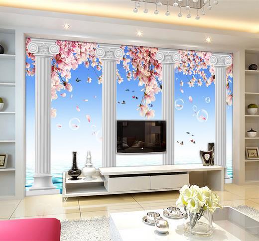 Stereoskopische 3d großen wandmalereien wohnzimmer tv hintergrund
