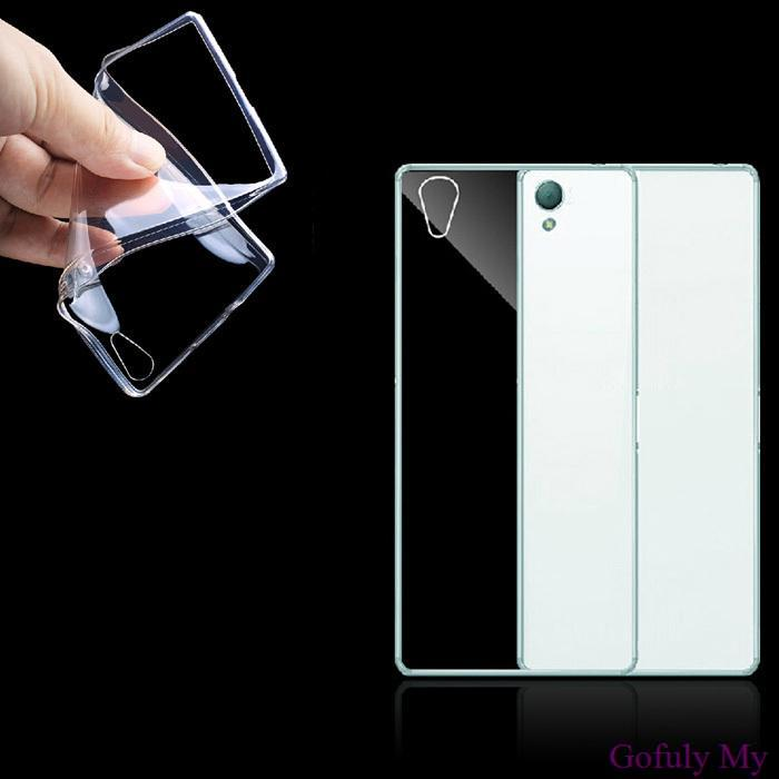 Gofuly 2014 excelente Ultra fino 0.3 mm Crystal Clear suave TPU Case capa para Sony Xperia Z3 novo(China (Mainland))