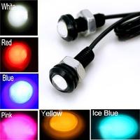 2PCS/Lot 12V 9W Eagle Eye LED Car Daytime Running Light Day time Light & Reverse Lamp Stop Parking Tail Light 6 Colors Available