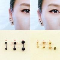 Hot women Dumbbell Earrings Tragus Cartilage 3mm/4mm/5mm men Surgical Steel ear studs