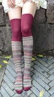 2014 new winter Retro tube socks women's over the knee thigh high stockings women knee socks knee high socks