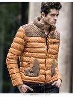 wholesale hotsale winter thick warm stand neck  patchwork men jackets ,down parka outerwear 75006