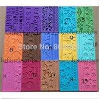 15 Moldes silicone mold Mould Fondant cake Sugar Craft decorating tool free shipping
