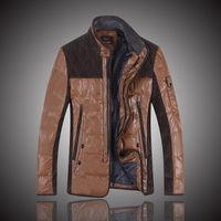 2014 New Fashion Men's Down Cotton Winter Trench Coat Jacket Parka Overcoat