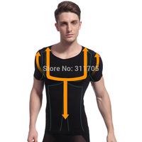 Mens Slimming Body Shaper Nylon Spandex Tummy Belly Waist Girdle Weight Loss Corset Tee Shirt Underwear Shapewear Free Shipping