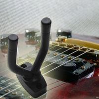 Black Guitar Stand Wall Hanger Hold Holder Rack Hook For All Size