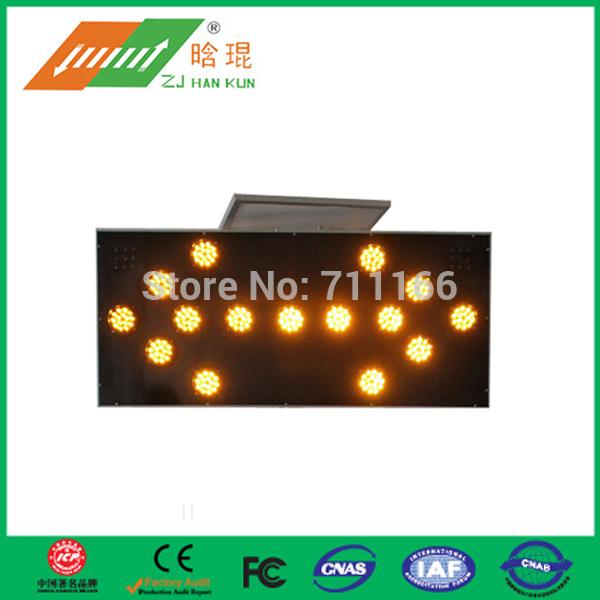 car construction arrow lights solar powered traffic sign light(China (Mainland))