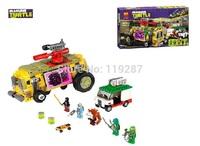 2014 NEW Bela Genuine Teenage Mutant Ninja Turtles The Shellraiser Street Chase Toy Assembled Assembling Building Blocks 10211