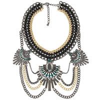 2014 women crysatlchain tassel necklaces & pendants statement necklace flower collar choker necklace jewelry accessories 8761