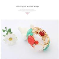 cxt00478 Hot Sale Jewelry Women Gift  Brand Big Acrylic Rhinestone Vintage Indian Charm Bracelets Bangles Women