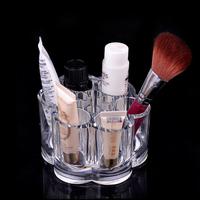 2014 New Plum Flower Clear Acrylic Makeup Drawers Cases Insert Holder Box Lipstick Brush Cosmetic Organizer