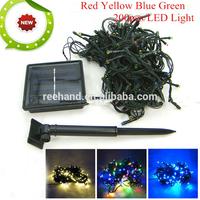 2V/200mA solar panel 200pcs led light blubs 20m solar light for christmas wedding garden lighting + freeship