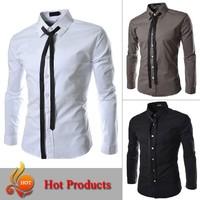 man Spring 2014 luxury Designer Fashion slim fit dress mens dress shirts of stylish men, BC08