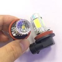 10X H8 high power 25W 4 COB+ 1PCS 5W CREE DC12V auto car Fog Light Headlight Daytime Running led Light bulb lamp free shipping