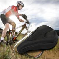 BIKE BICYCLE EXTRA COMFORT SOFT GEL SEAT SADDLE CUSHION COVER - BLACK  HW02011
