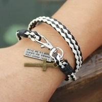 2015 Sell Best!Most Popular Leather Bracelet Pop Neutral White + Black Bracelet Nine Color Can Choose 1pcs Free Shipping!
