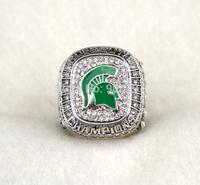 Free shipping fashion replica rhodium plated Big Ten 2014 Michigan State Spartans Football Rose Bowl Championship Ring