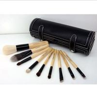 NEW!2014 BB brand 9 pcs long handle makeup cosmetic brush set with bag tube,make up brushes set free shipping