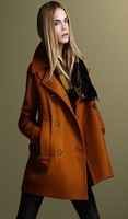 European and American wind atmosphere vogue of new fund of 2014 autumn winters double-breaste   cloth coat     WWT140916