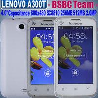 Cheap Lenovo Phone Gifts Lenovo A300t 4.0 inch Spreaditrum SC8810 1.0GHz 800x480 Capacitance 2.0Mega Pixels Russian Ukraine