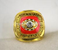 Free shipping sporty replica 18k gold plated 1969 NFL Super Bowl IV Kansas City Chiefs football world Championship Ring